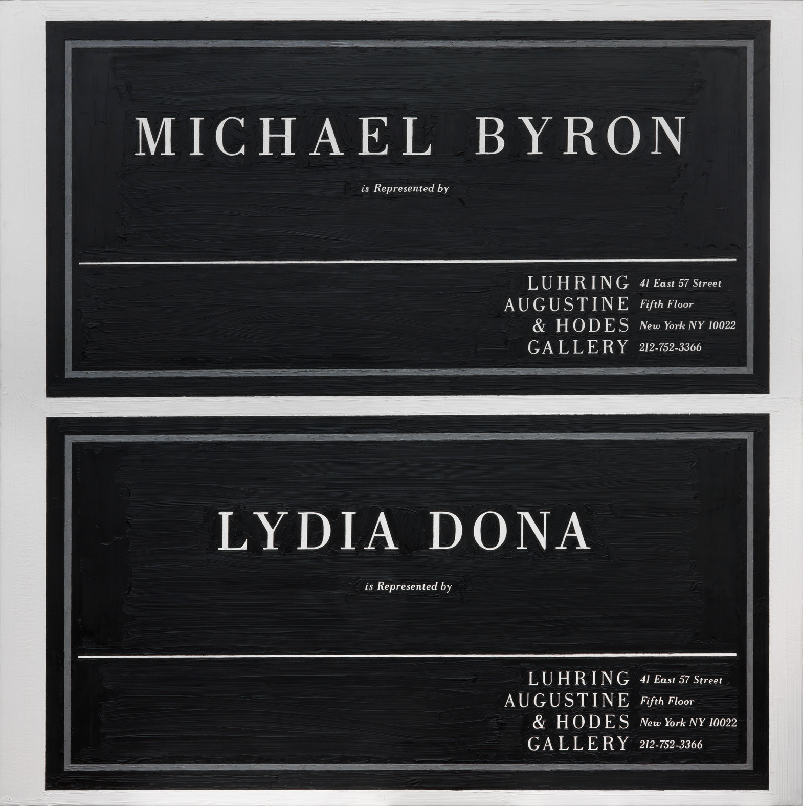 Michael Byron at Luhring, Augustine & Hodes