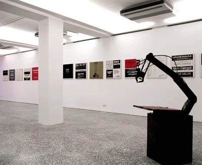Installation view of Artforum, 15 paintings