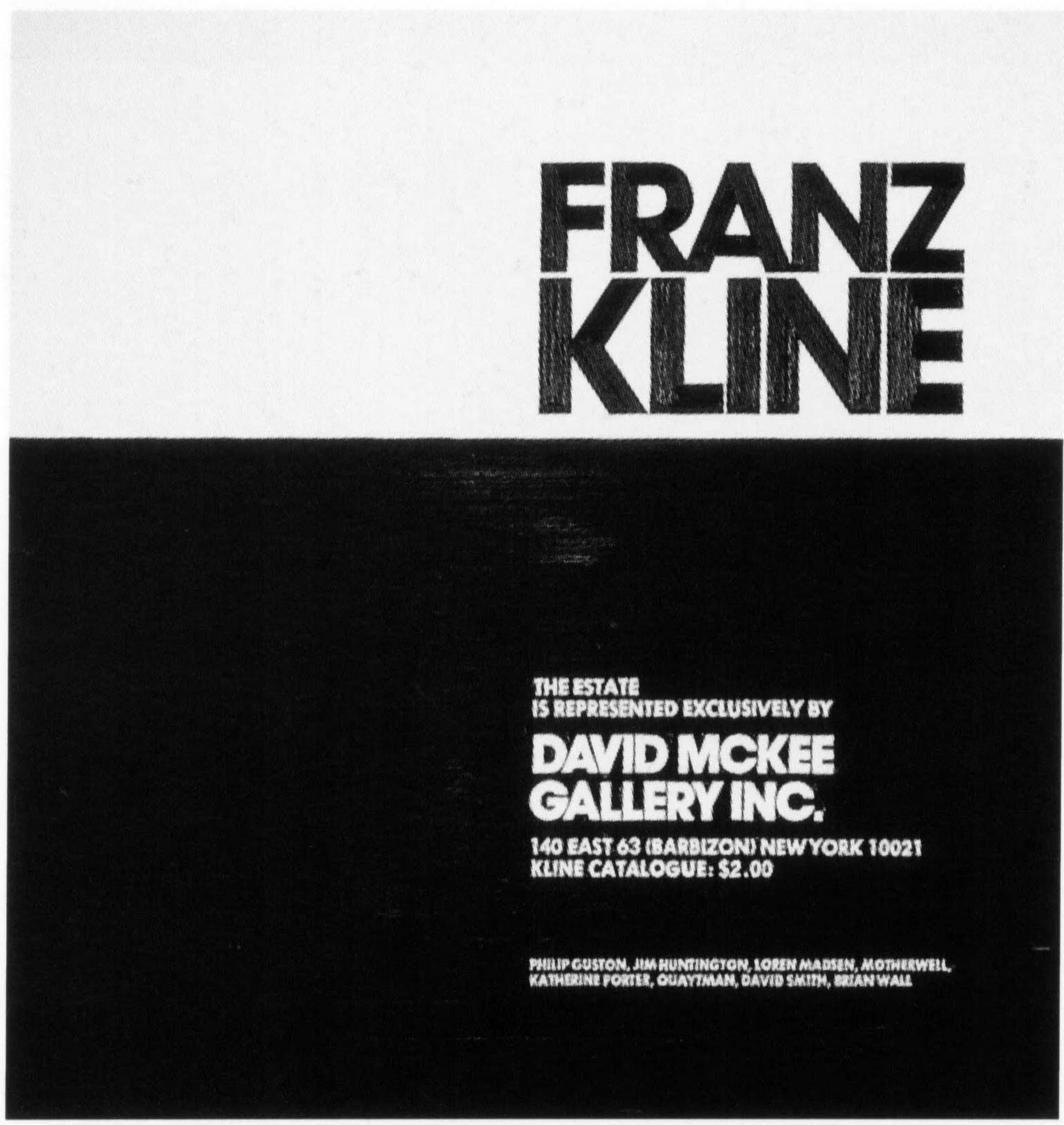 Franz Kline at David Mckee