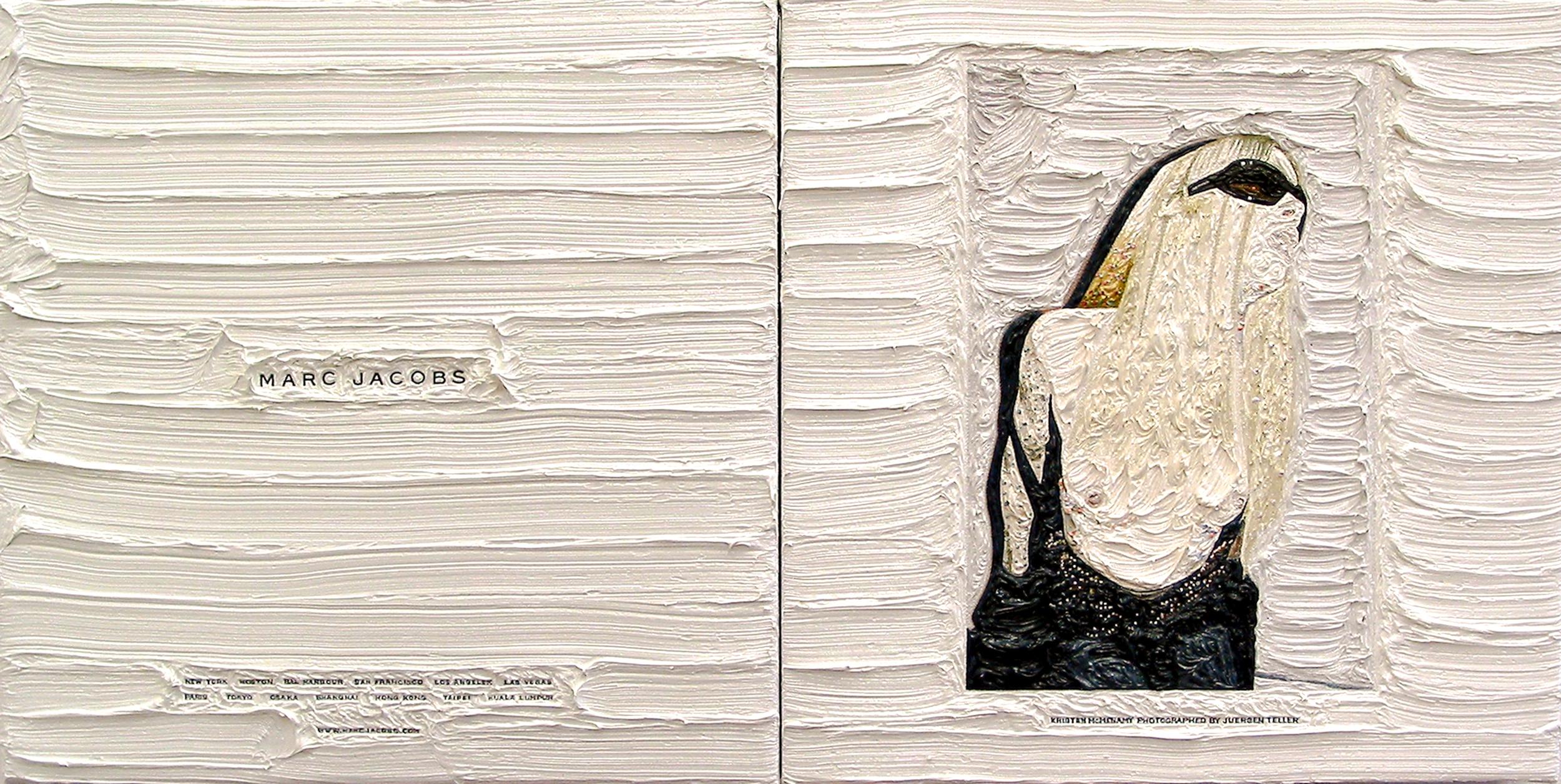 Marc Jacobs and Jurgen Teller, 26.5cm x 53cm, Oil on Linen, 2006.