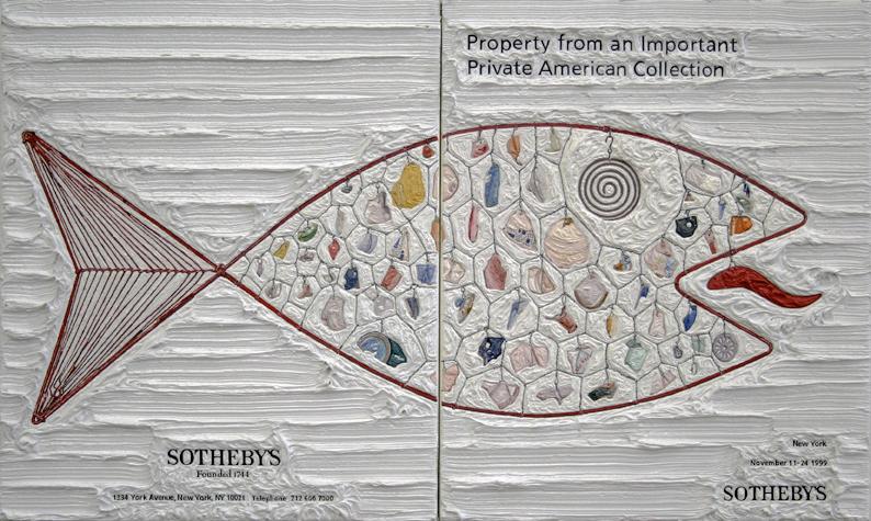 Calder at Sotheby's, Oil on Linen, 2006.