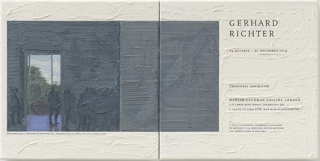 Gerhard Richter at Marian Goodman, 26.5cm x 53cm, Oil on Linen, 2015.