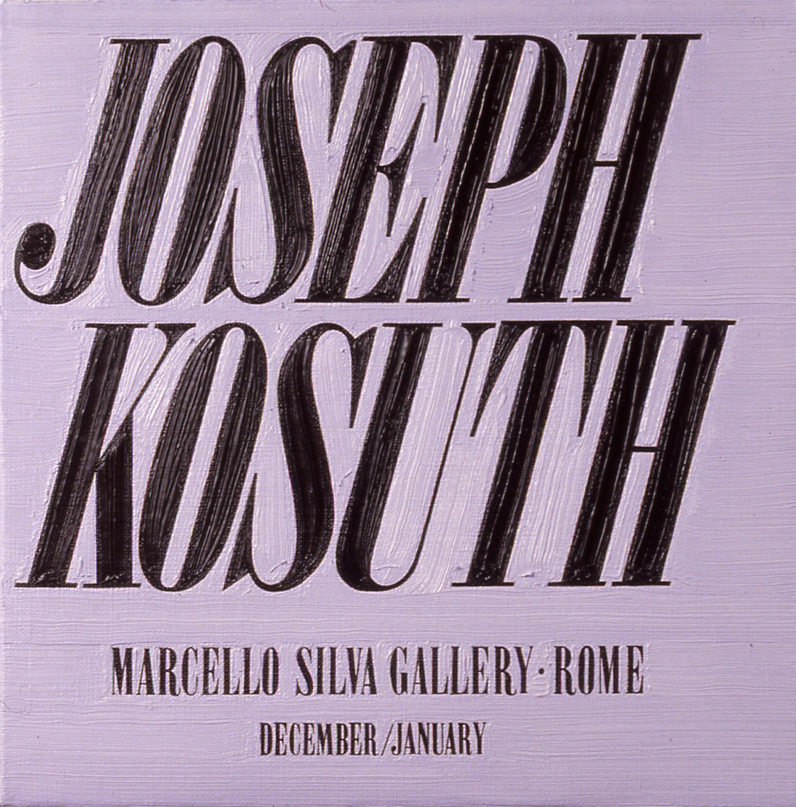 Joseph Kosuth at Marcello Silva