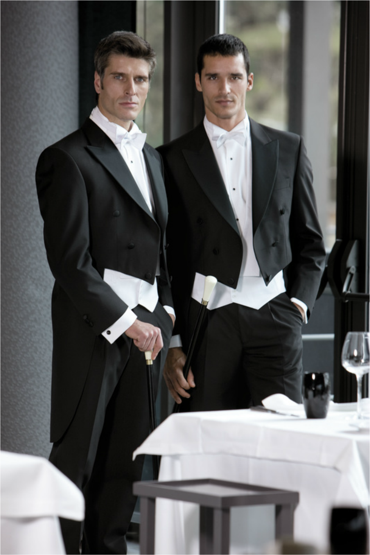 Full Evening Dress Tailcoat, Marcella Waistcoat, Shirt and Bow. Hire from £140. Buy from £299