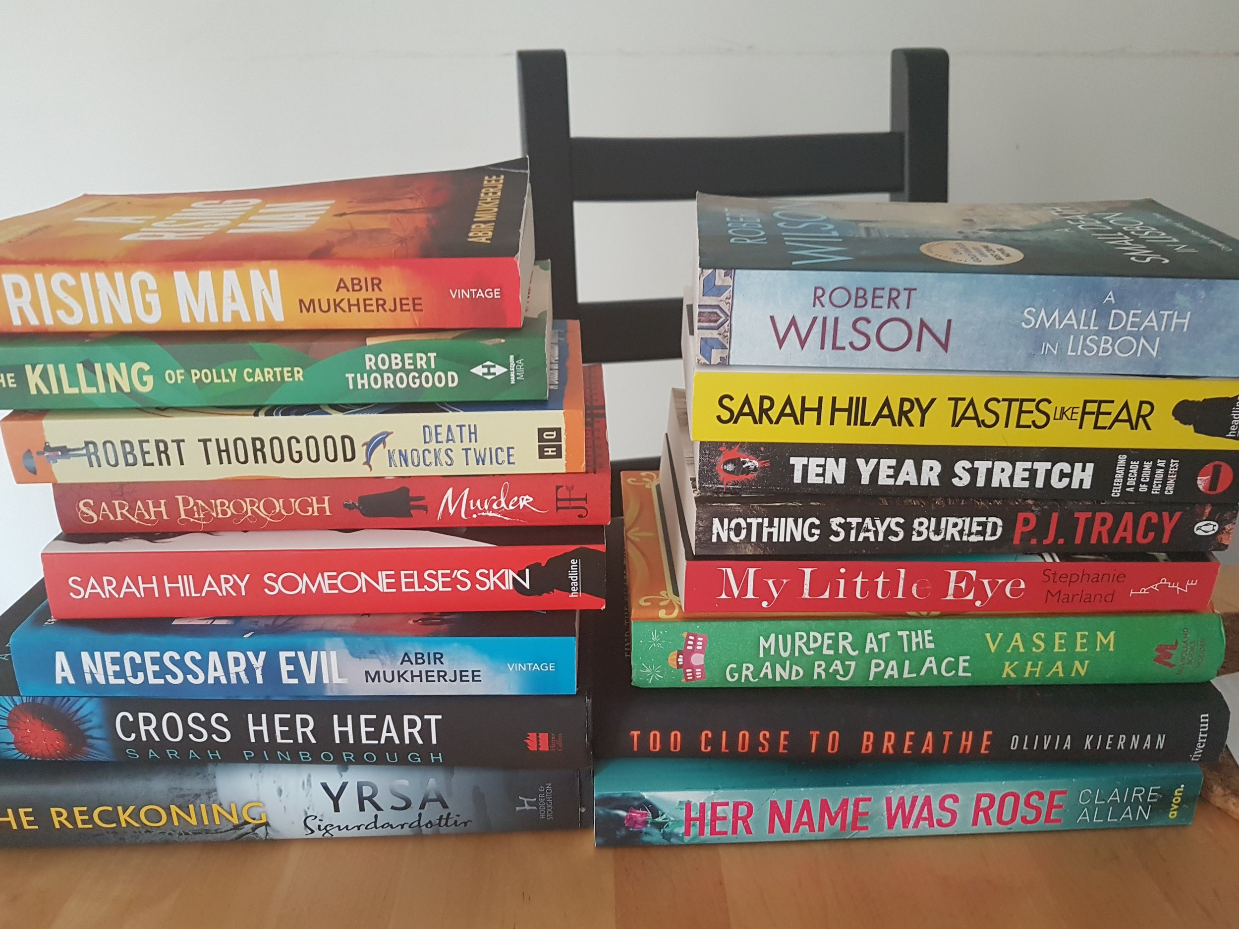 My CrimeFest bounty & a few more on Kindle