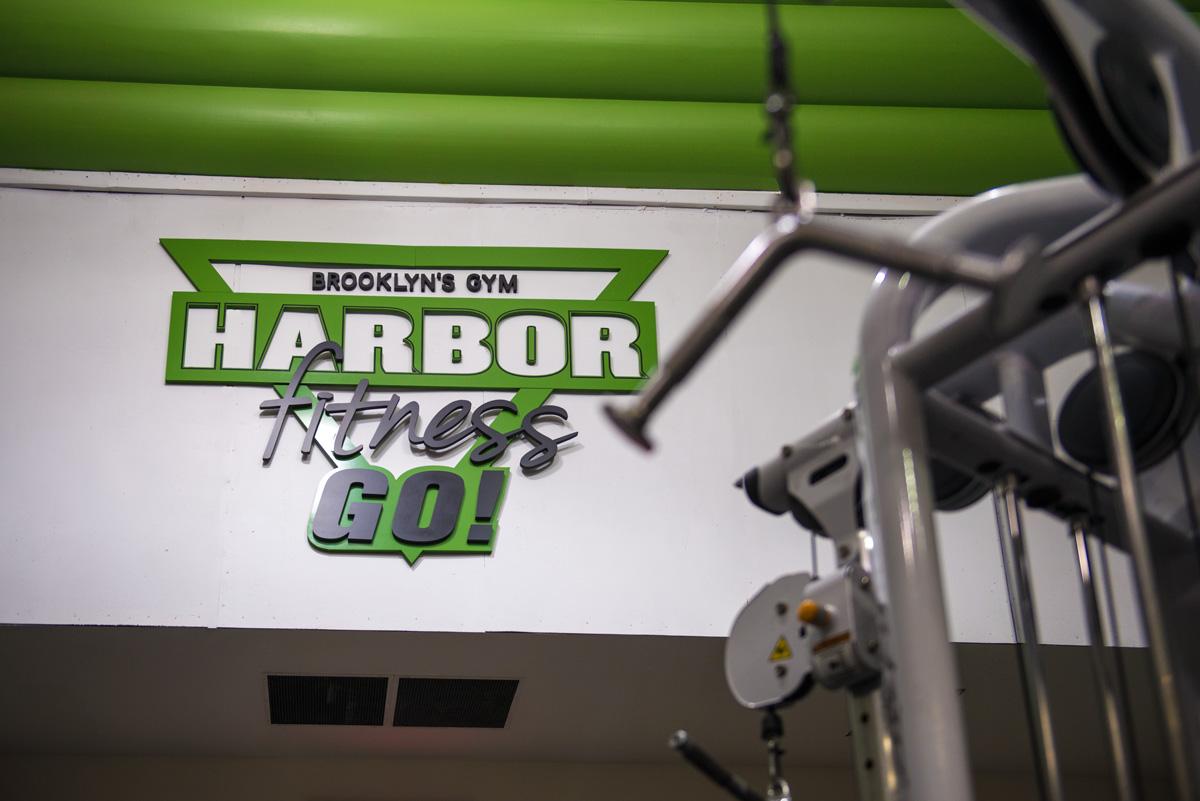 Harbor Fitness Marine Park Logo on Wall