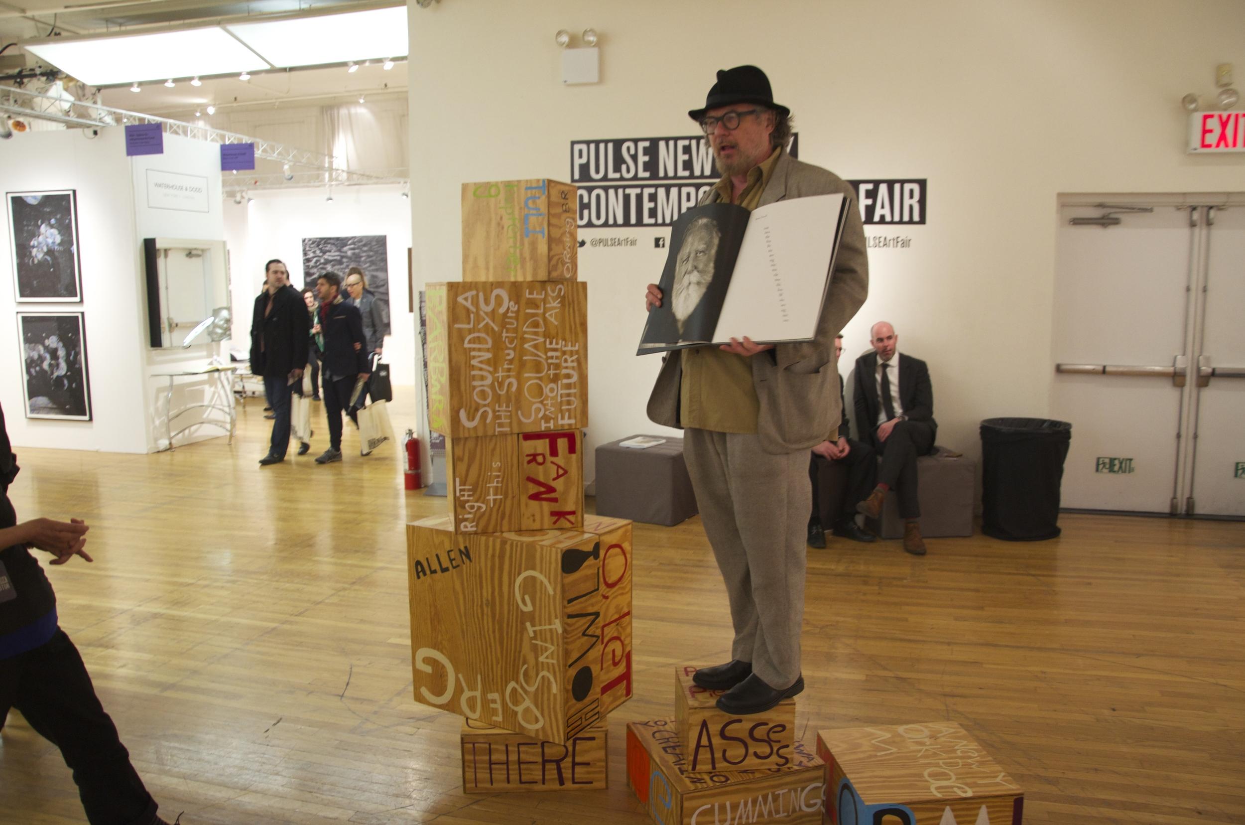 oet Sculpture PULSE Art Fair, Bob Holman, New York, NY 2014.jpg