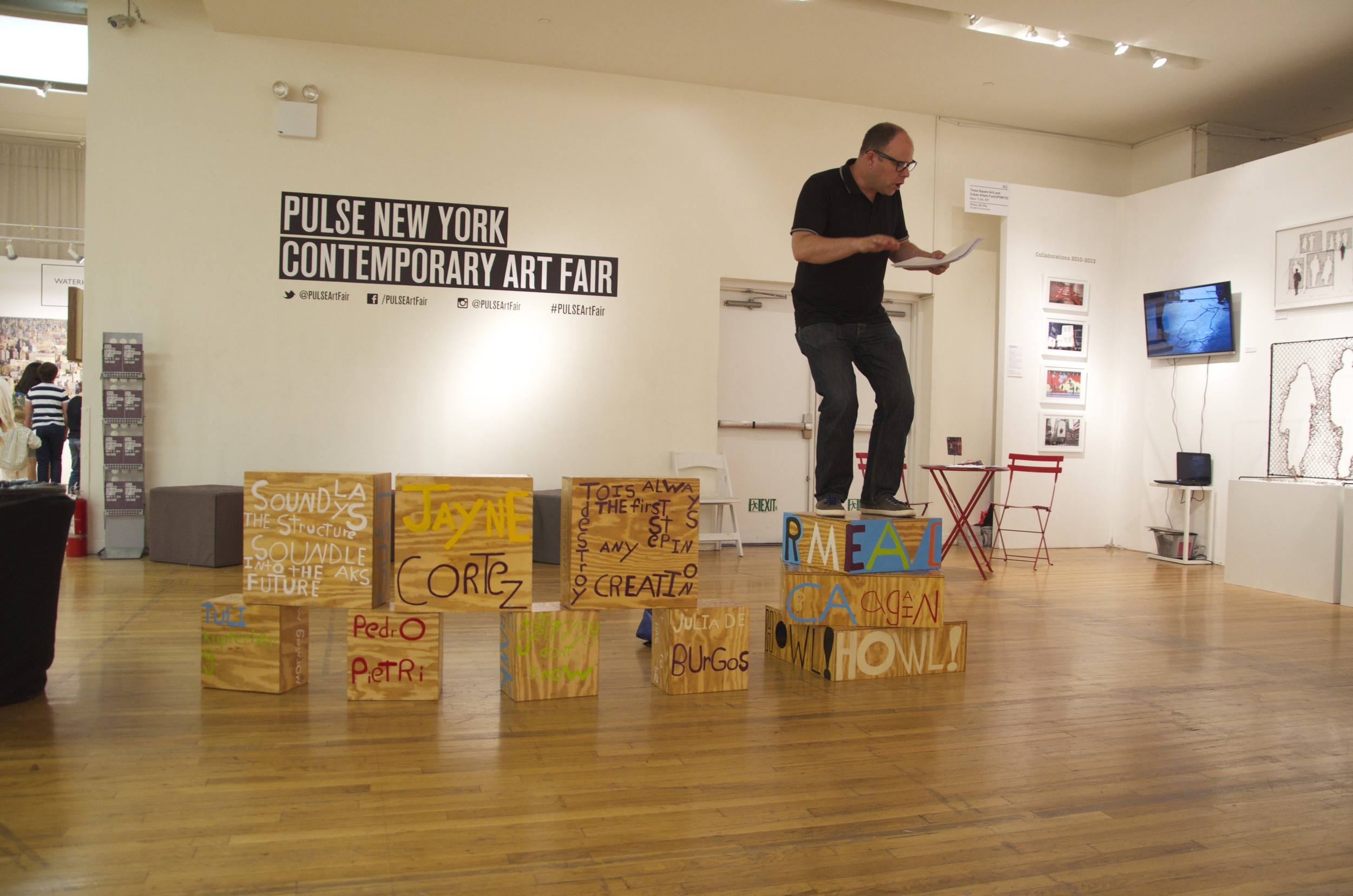 Poet Sculpture PULSE Art Fair, David Grubbs, New York, NY 2014.2.jpg