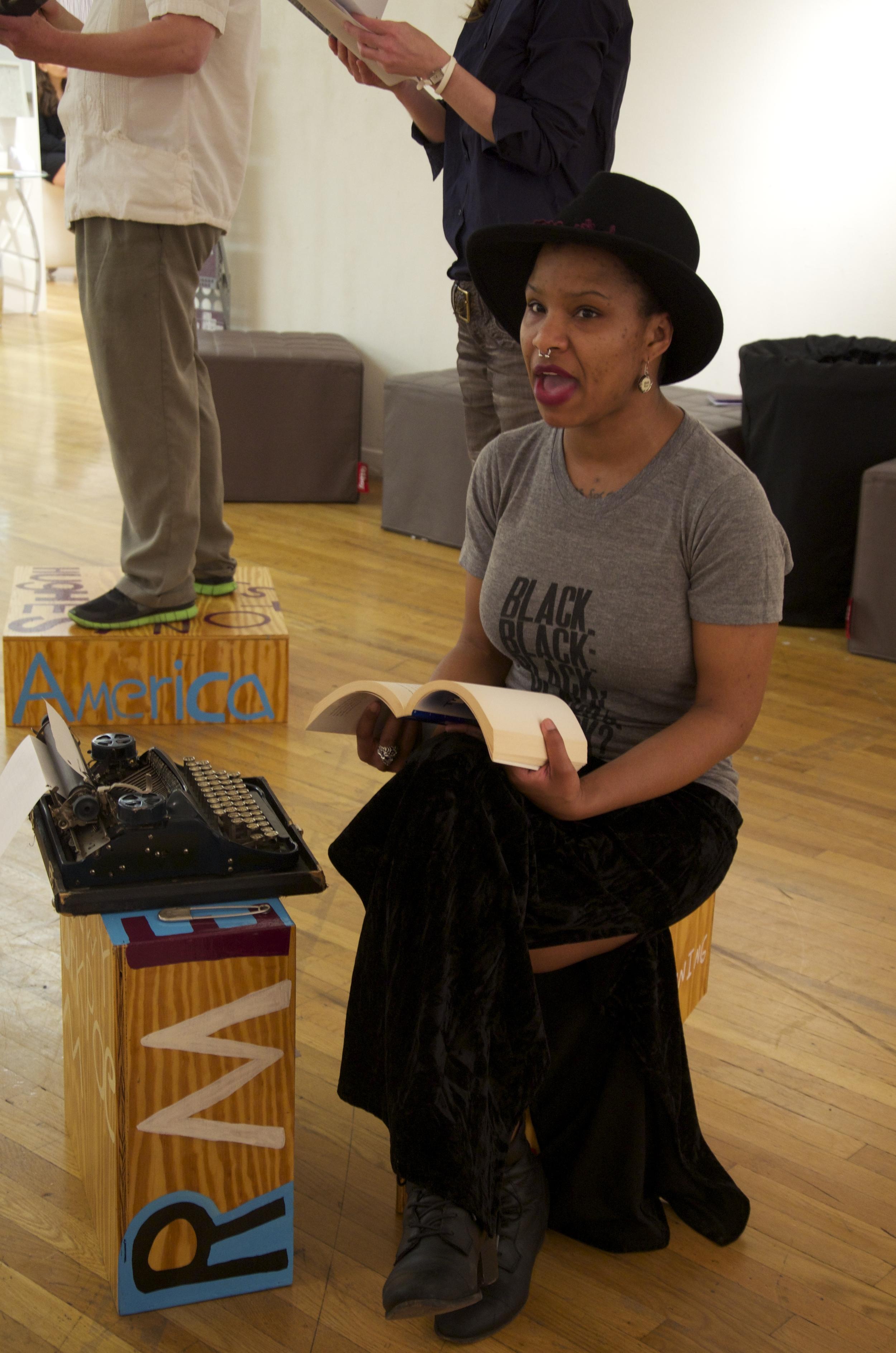 Poet Sculpture PULSE Art Fair, Joyce LeeAnn, New York, NY 2014.2.jpg