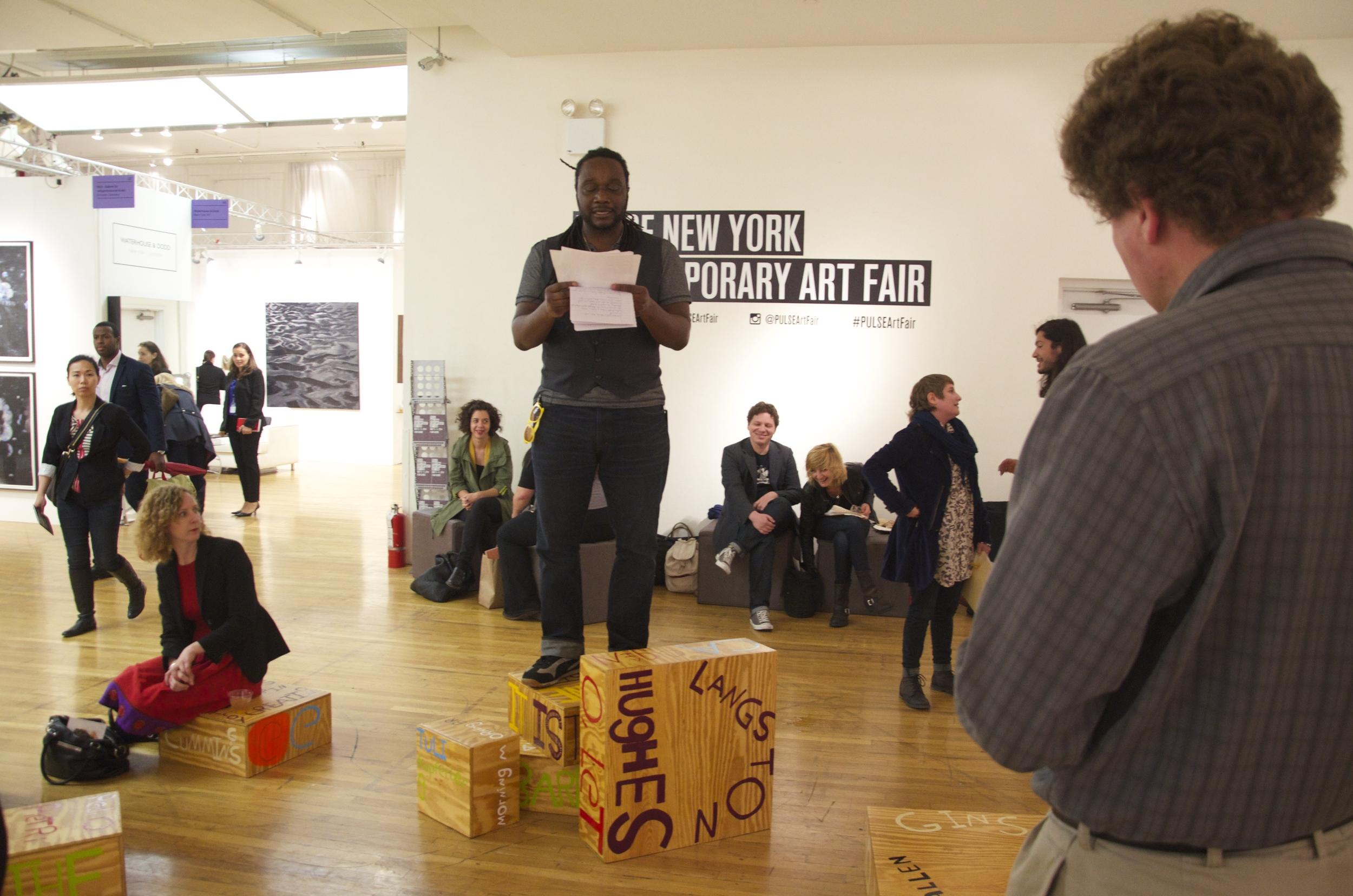 Poet Sculpture PULSE Art Fair, Michael Taylor, New York, NY 2014.jpg