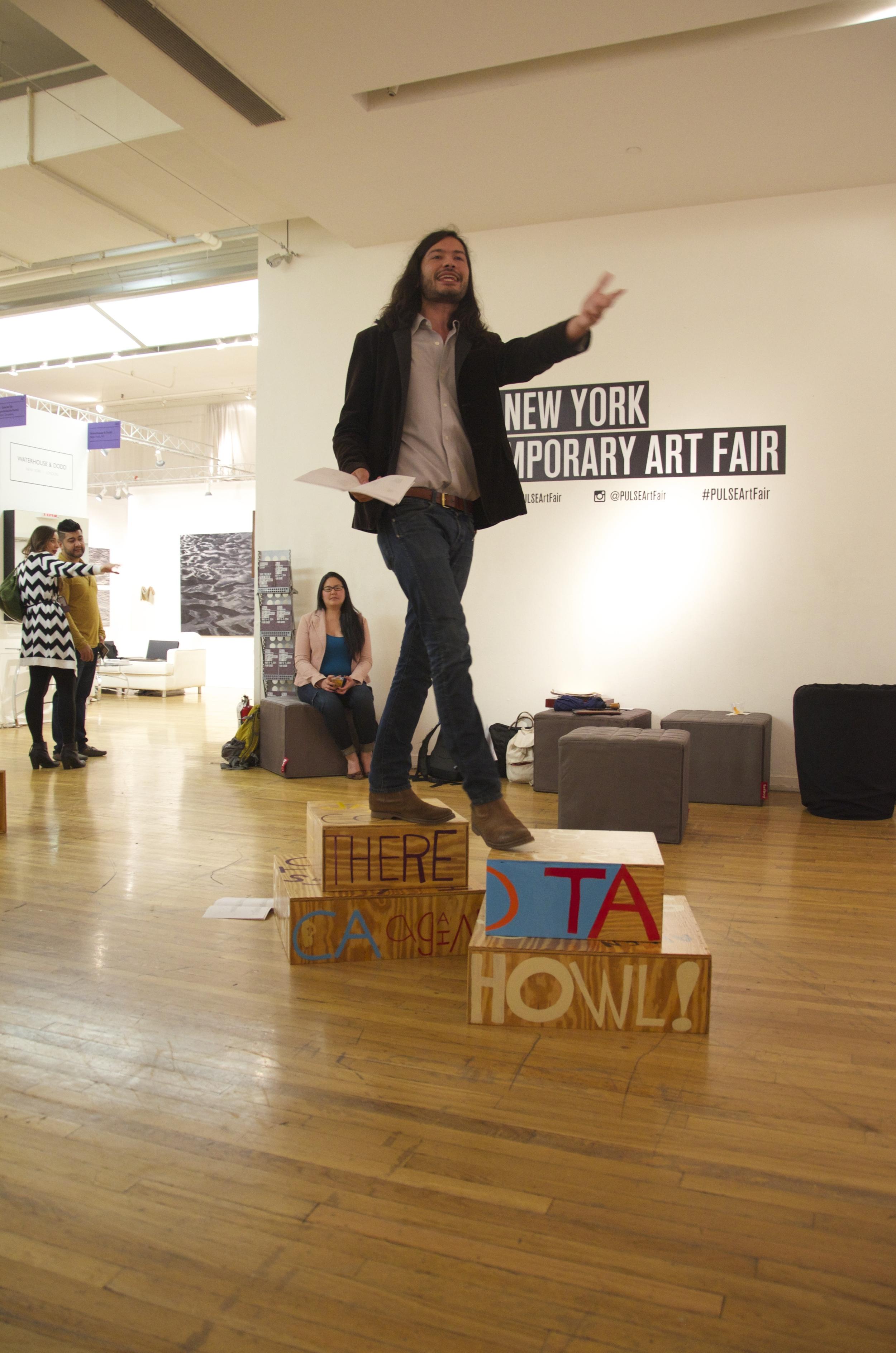 Poet Sculpture PULSE Art Fair, Nikhil Melnechuk, New York, NY 2014.jpg