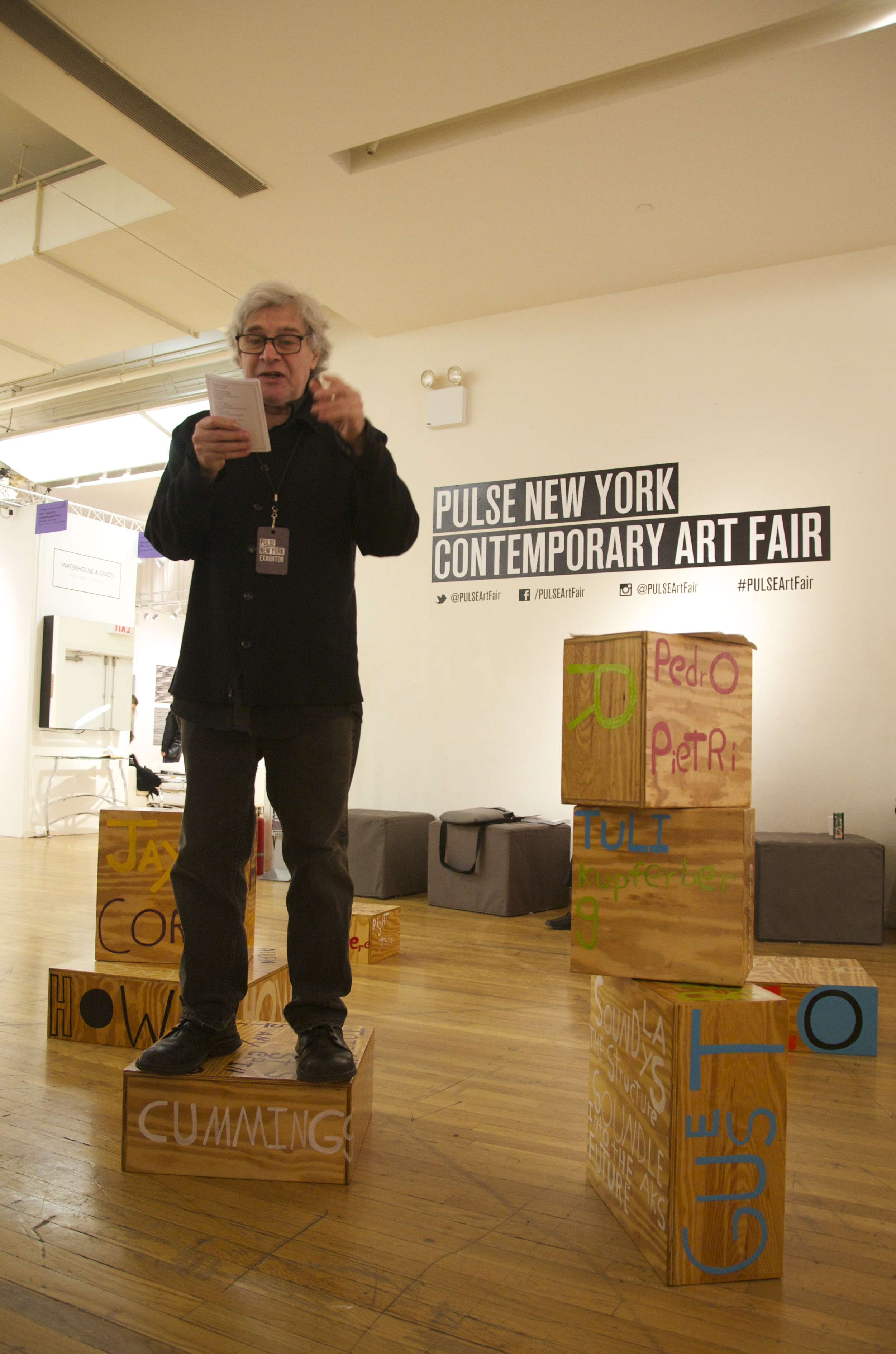 Poet Sculpture PULSE Art Fair, Steve Dalachinsky, New York, NY 2014.jpg
