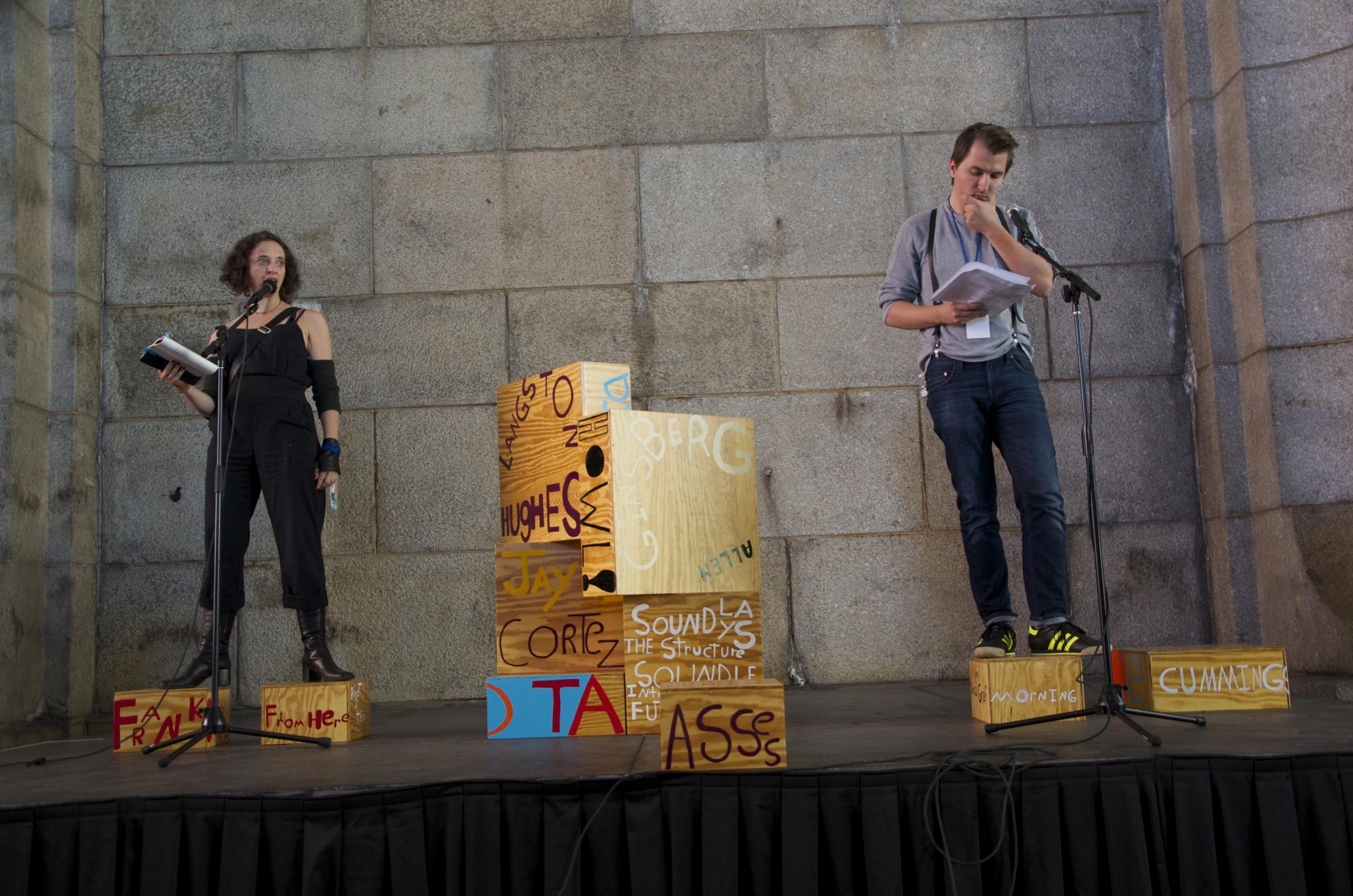 Poet Sculpture, DUMBO Arts Festival, Isak Berbic, Natalia de Campos, Brooklyn, NY 2013.jpg