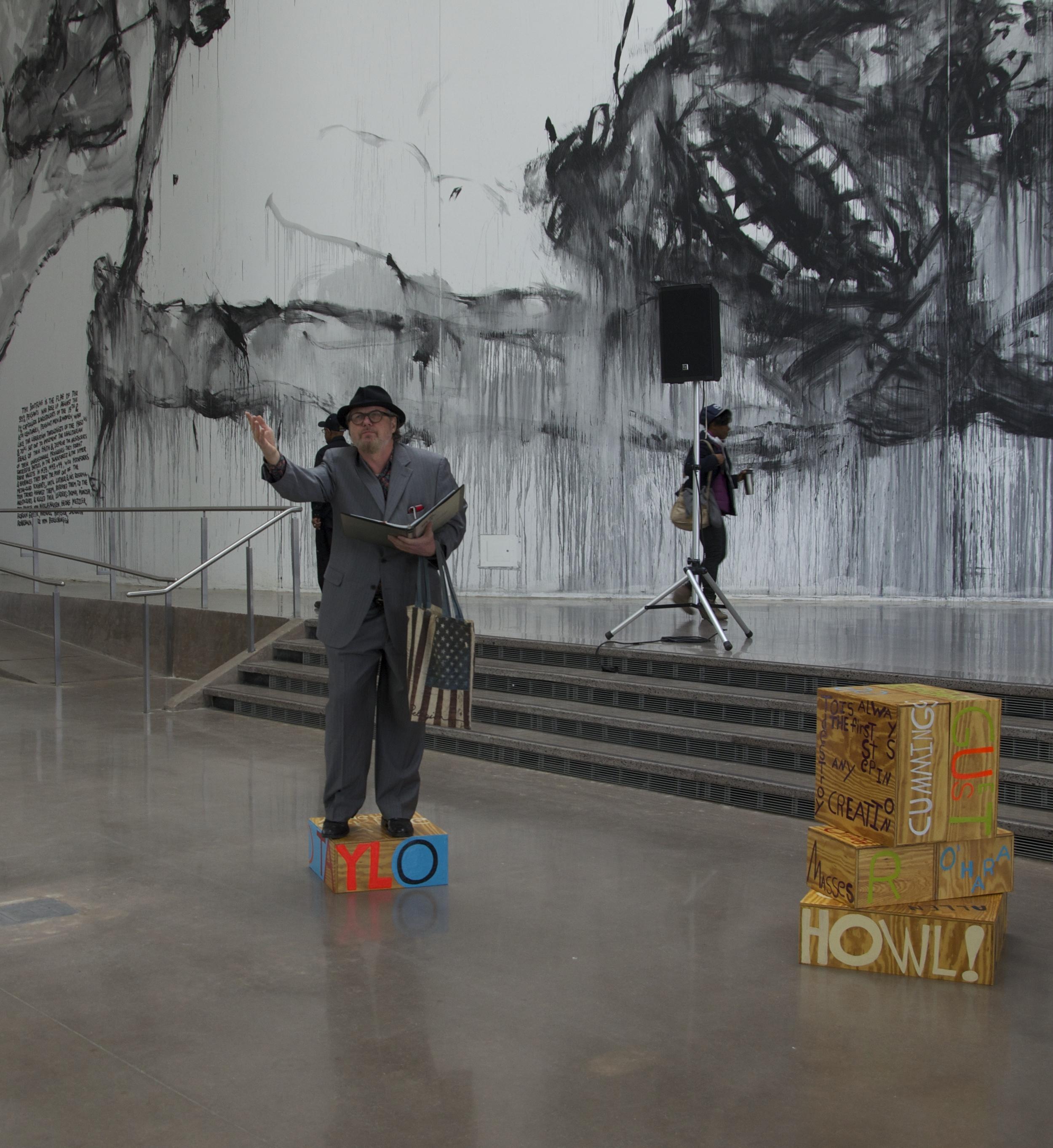 Poet Sculpture, Queens Museum, Bob Holman, Queens, NY 2014.jpg