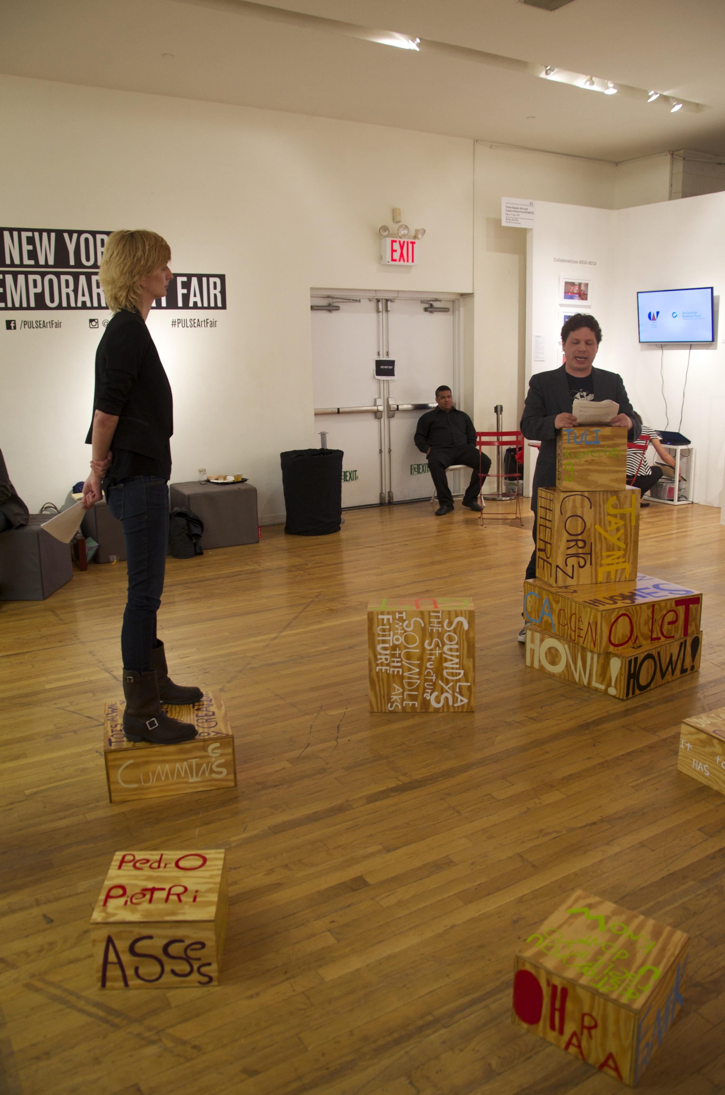Poet Sculpture PULSE Art Fair, Joe Pan, New York, NY 2014.jpg