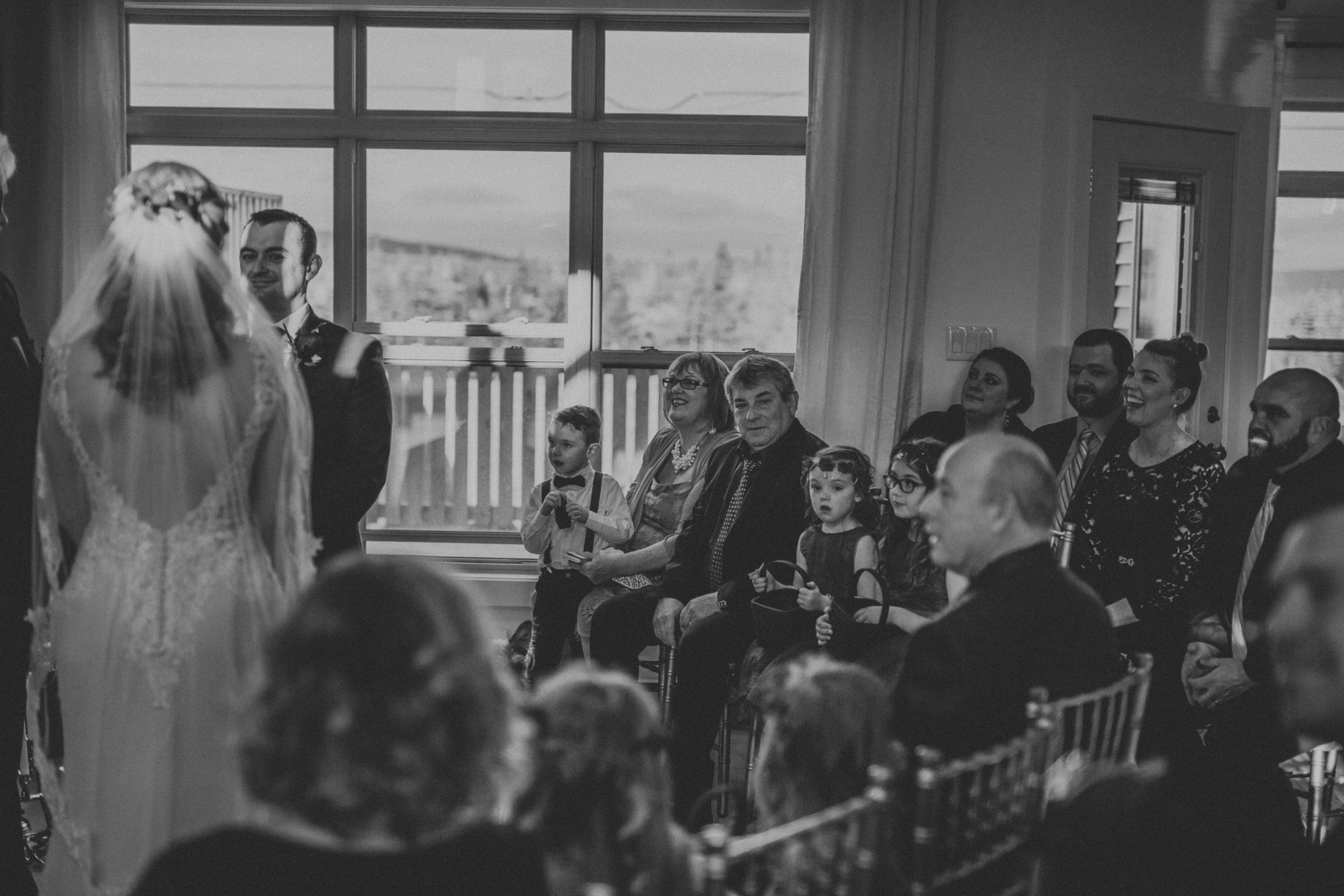 intimate at home wedding. Newfoundland wedding photographer.
