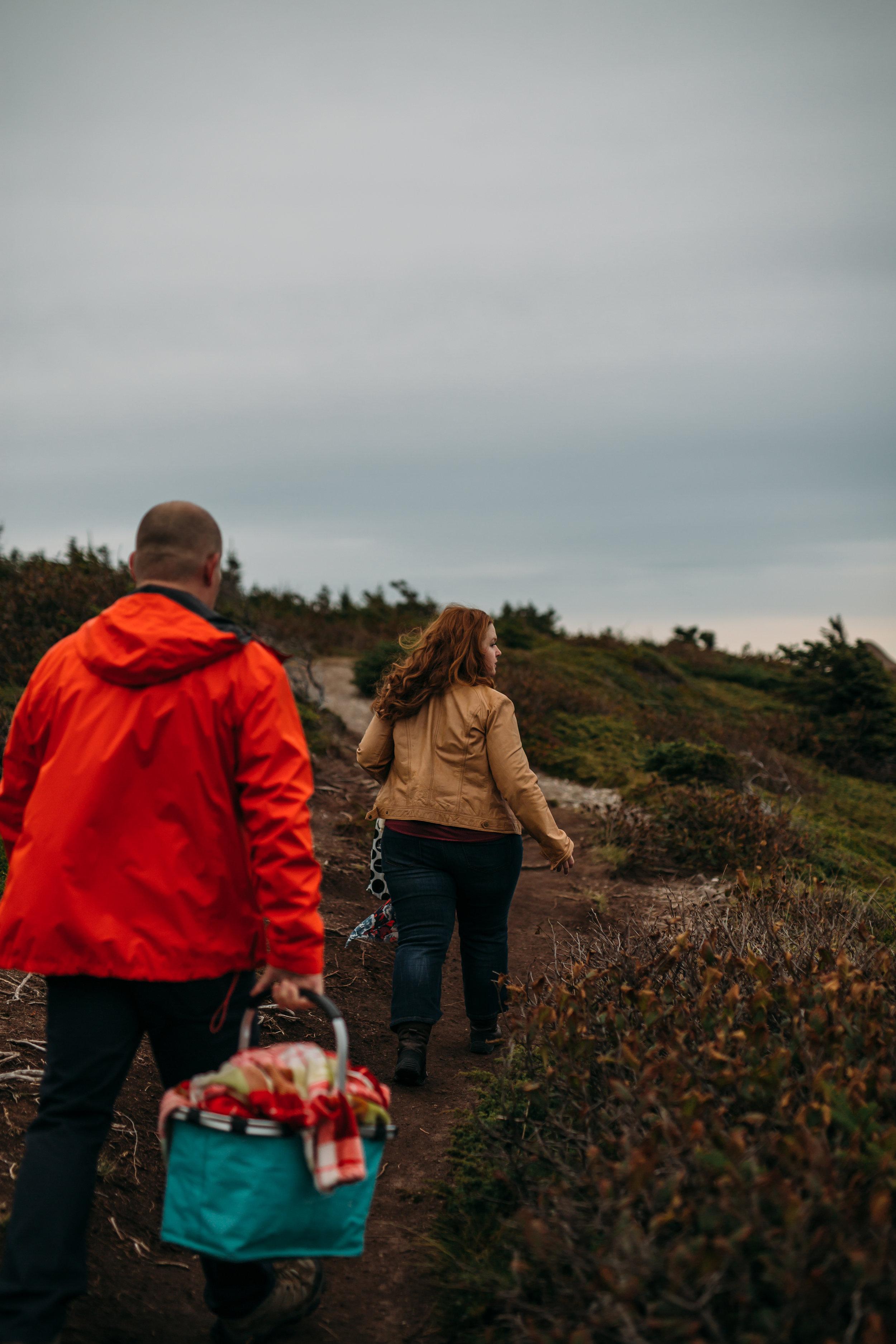 adventurous east coast trail engagement session