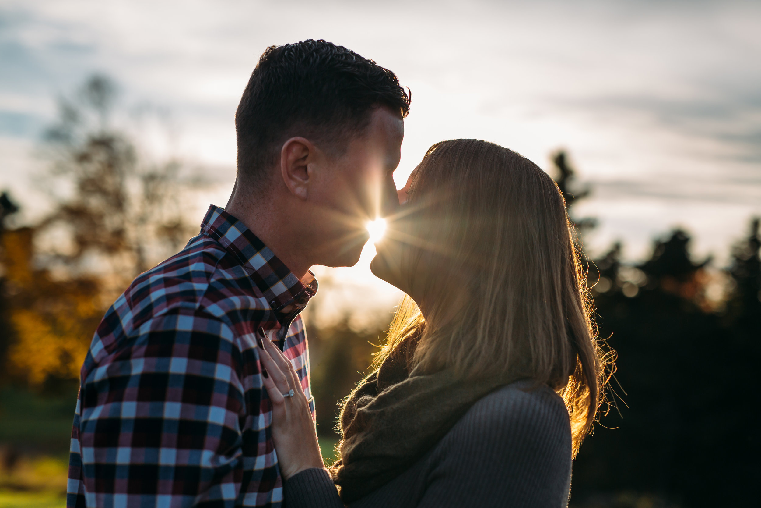 Conception Bay sunset engagement session