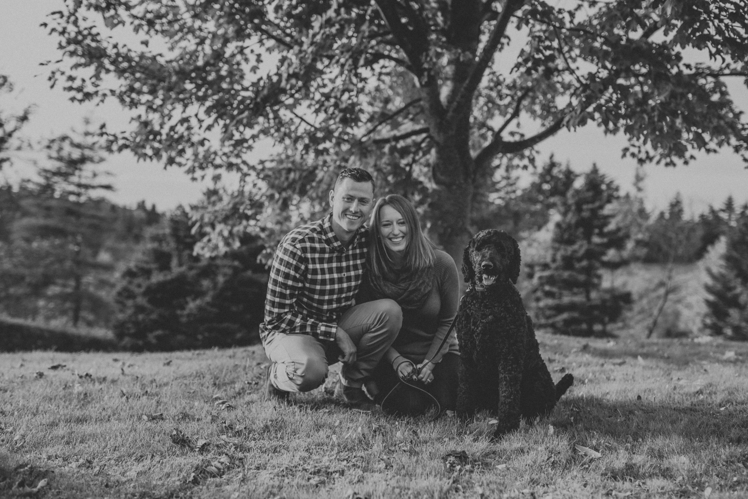 Pet friendly engagement session