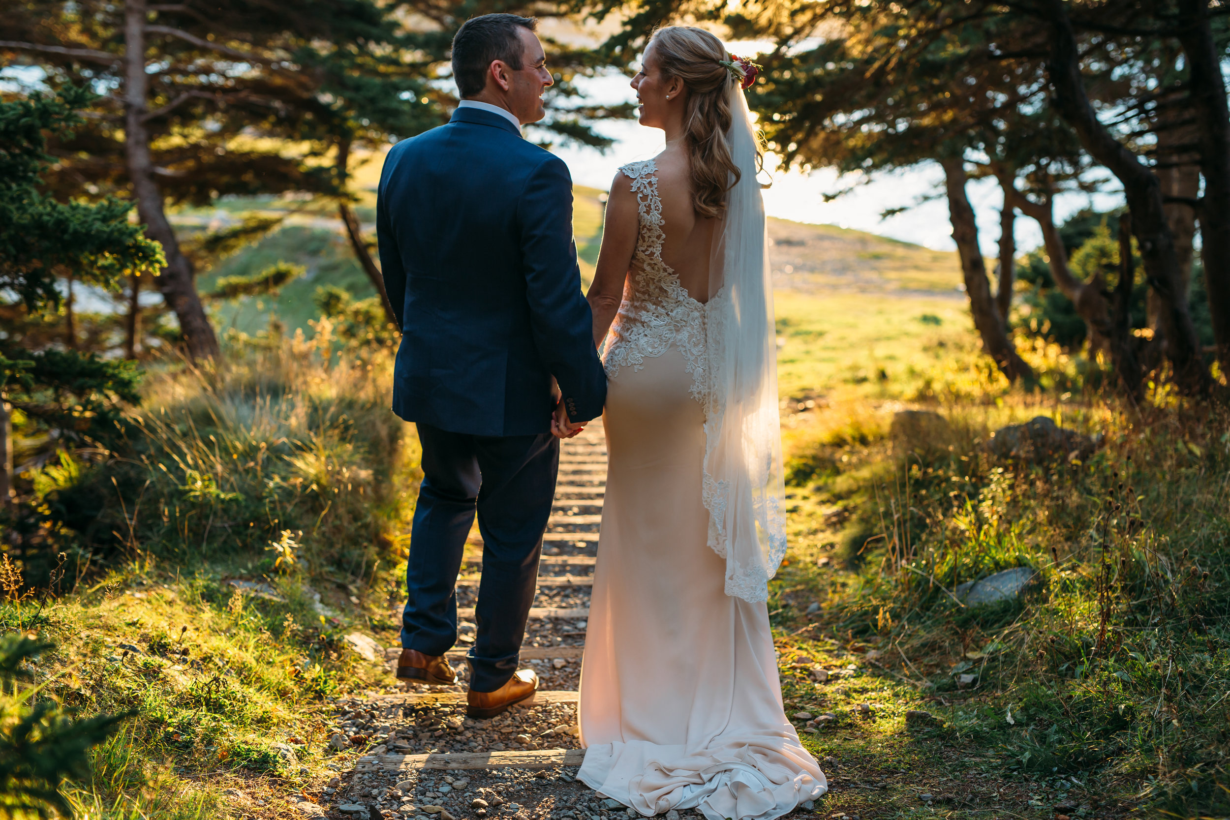 St. John's outdoor elopement black and white