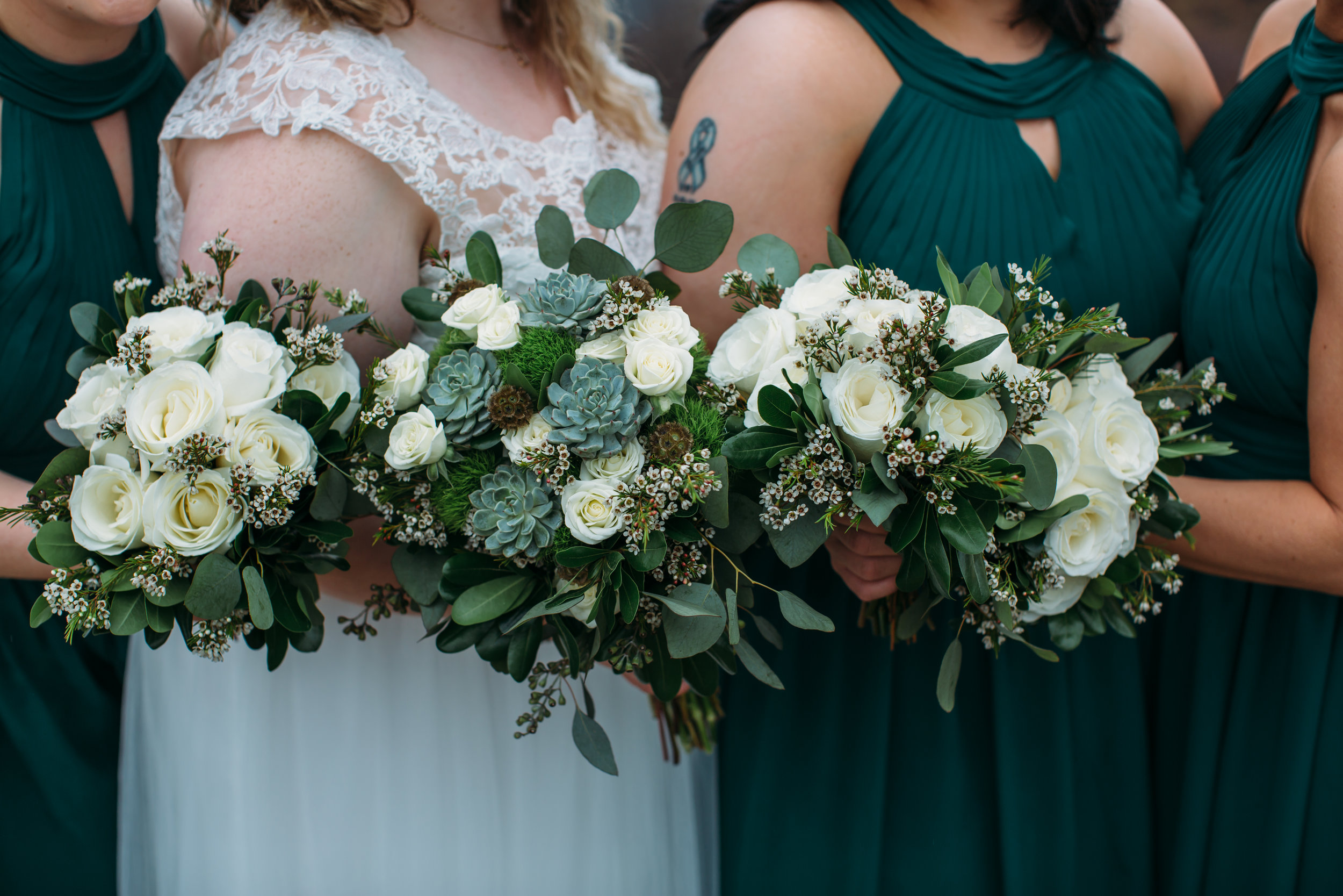 St. John's Newfoundland wedding - bouquet with succulent from by sharpe design