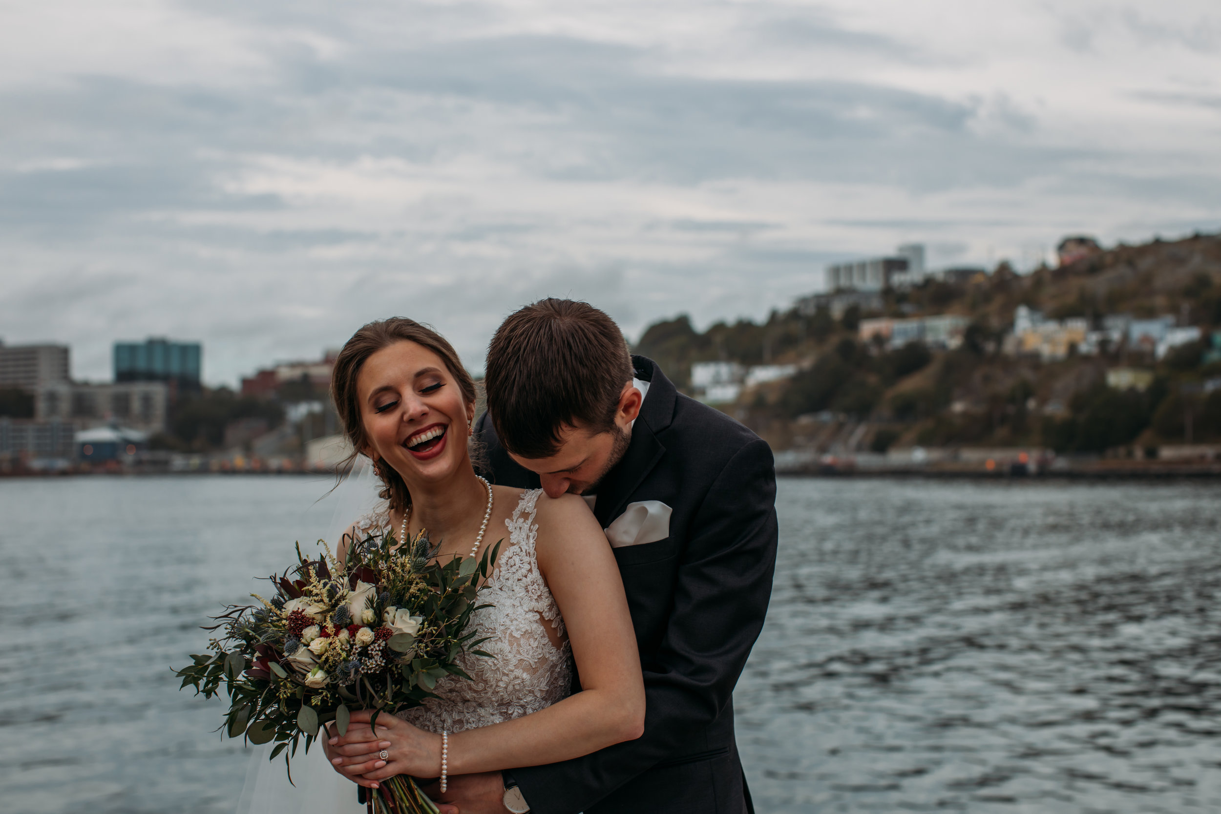 Downtown St. John's, Newfoundland romantic wedding at the battery