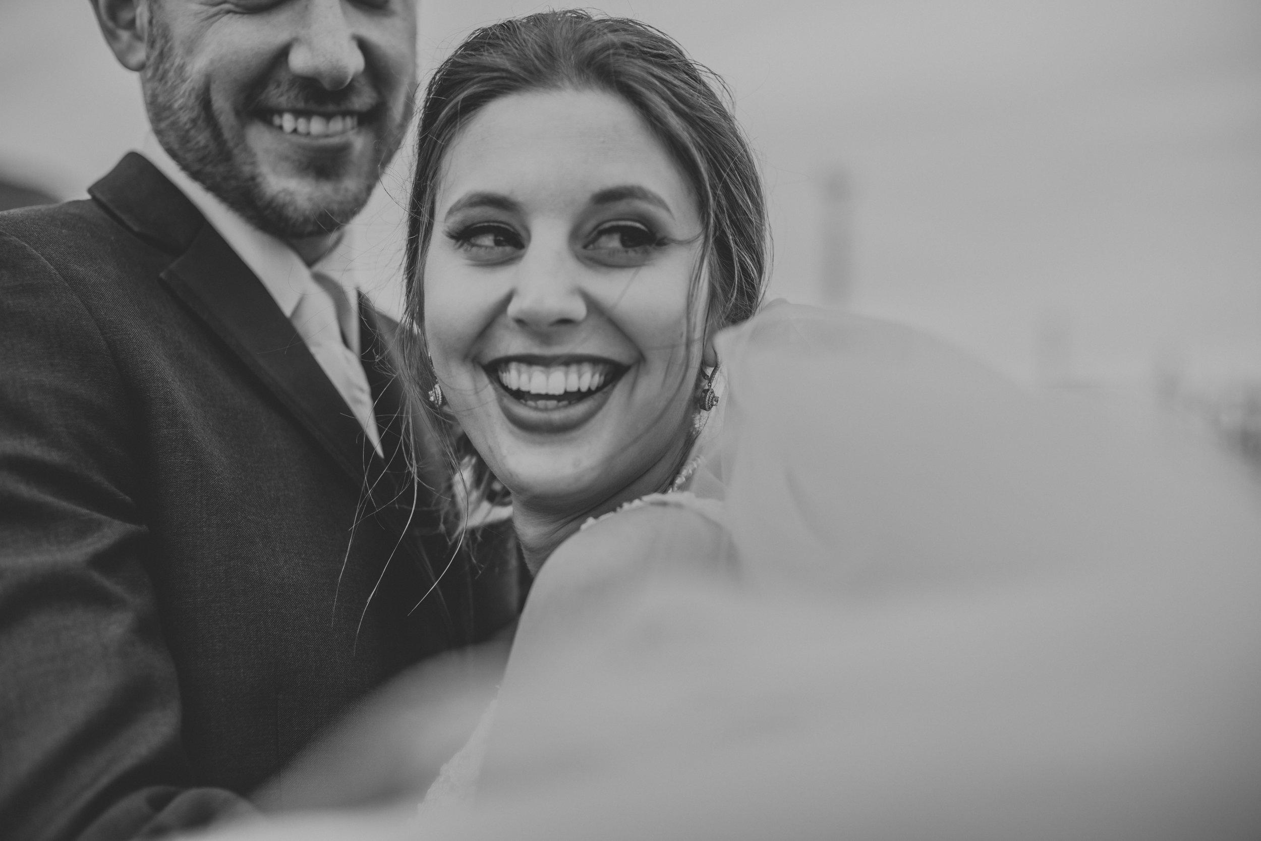 St. John's, Newfoundland wedding with smiling bride
