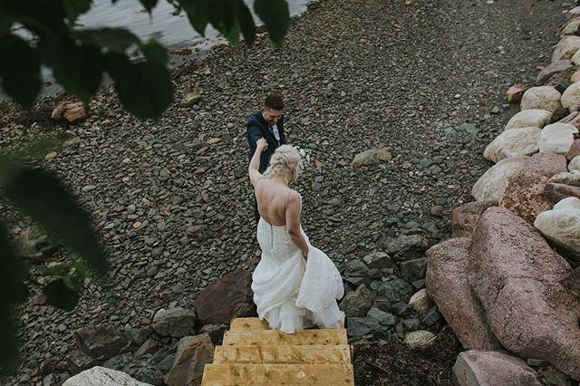 Wedding day adventures ✨ • • • #clarenville #newfoundlandphotography #newfoundlandwedding #yyt #yytweddings