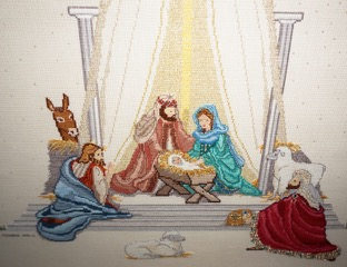 A detail of the above cross-stitch