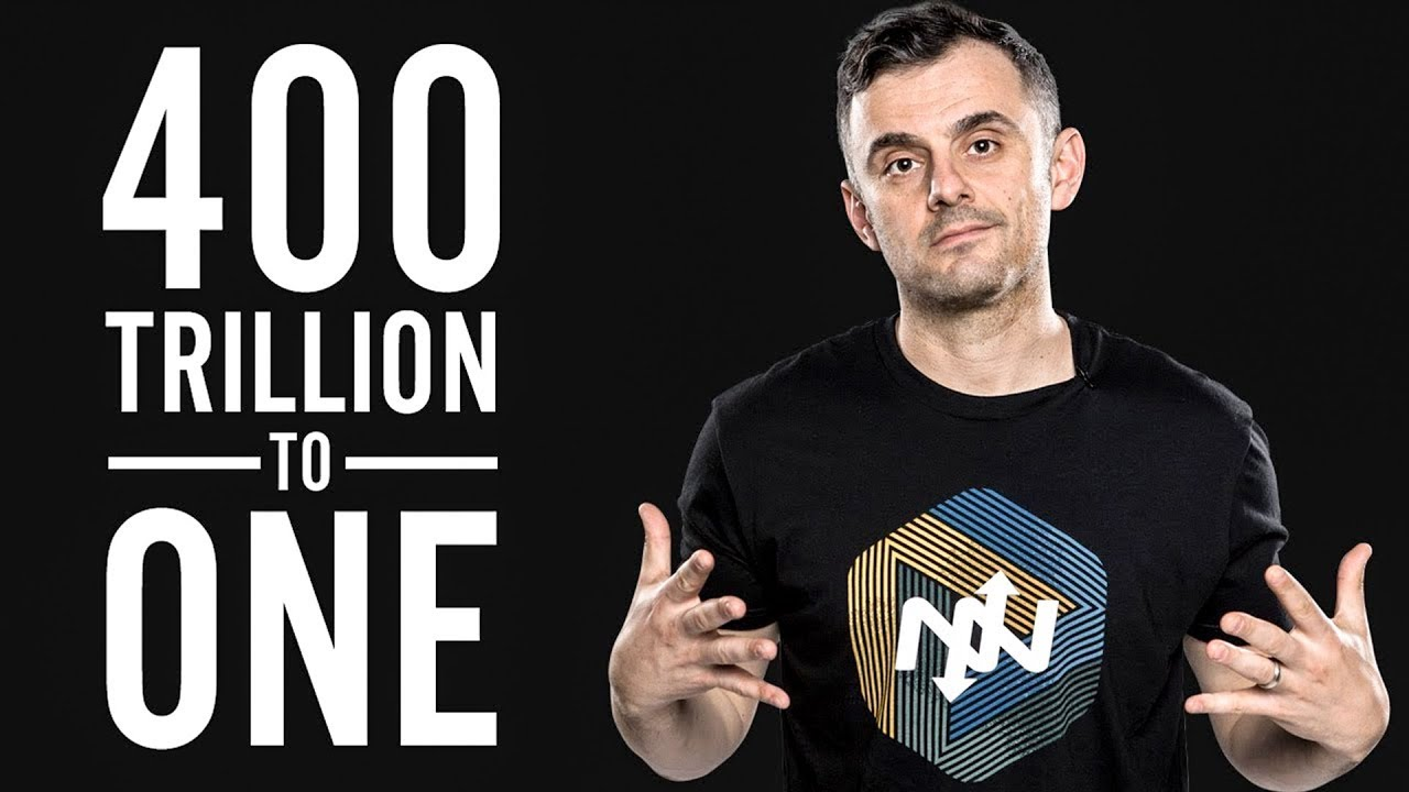 My former boss, Gary Vaynerchuk, is constantly reminding people of this by quoting the chances of being born - 400 trillion to one! I don't know the exact chances of being born but that number sounds about right…