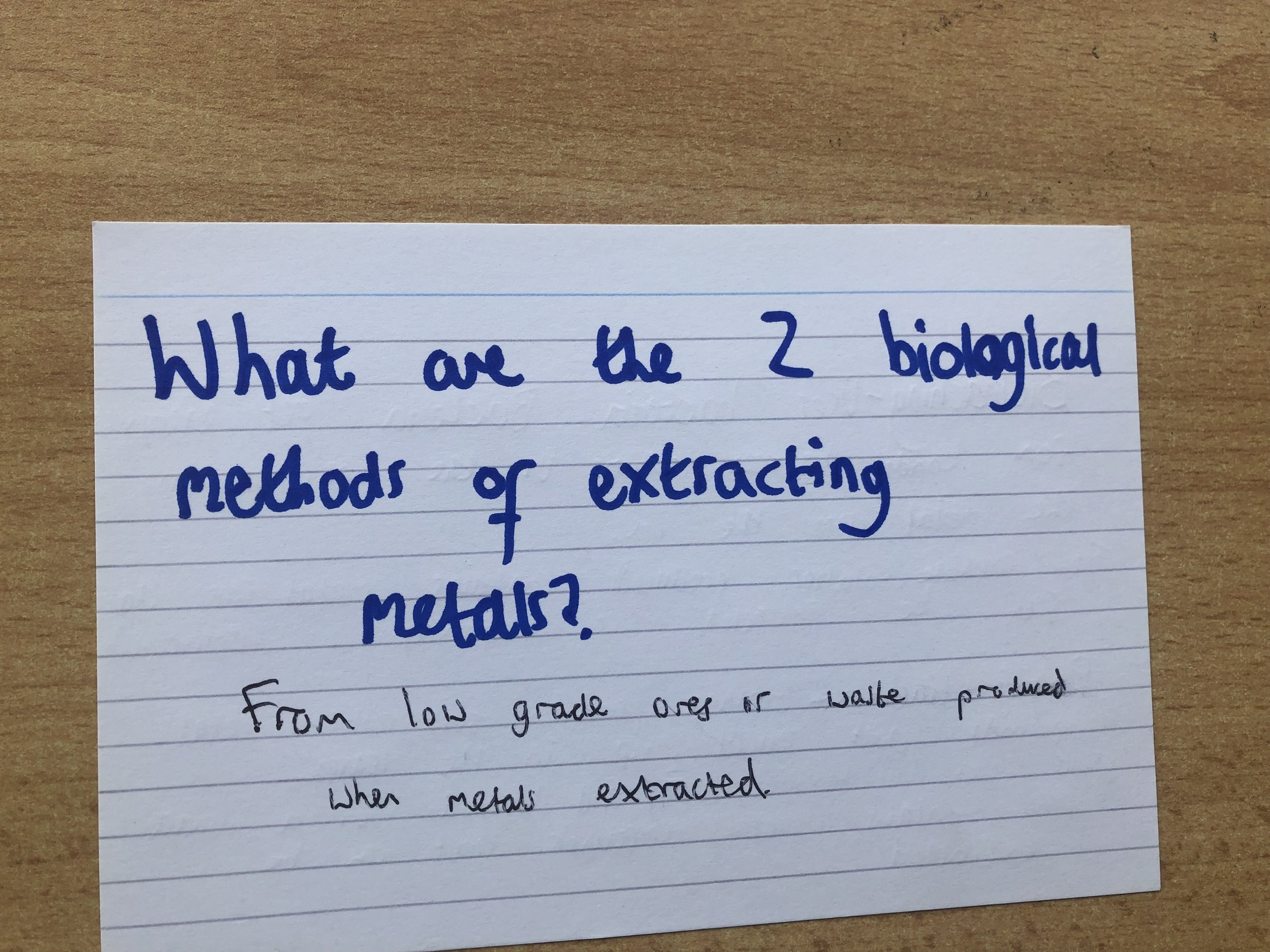GCSE Chemistry Revision Flashcards Extracting Metals.jpeg