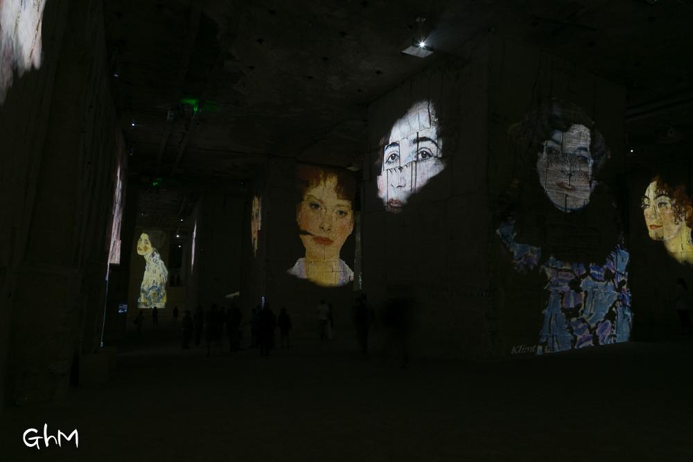 Klimt dans les carrières des Baux de Provence