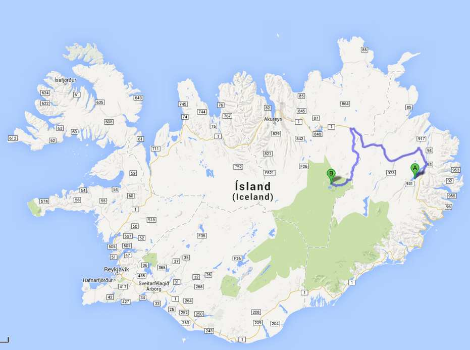 Islande-J7: Hallormsstadur- Askja