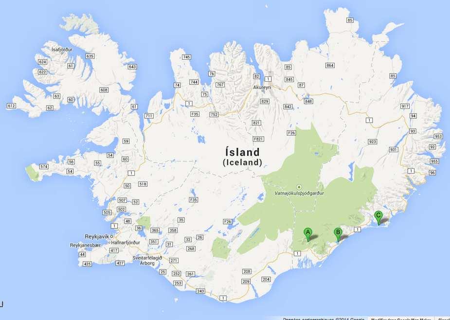 Islande-J5: Skatafell- Jokulsarlon- Hofn
