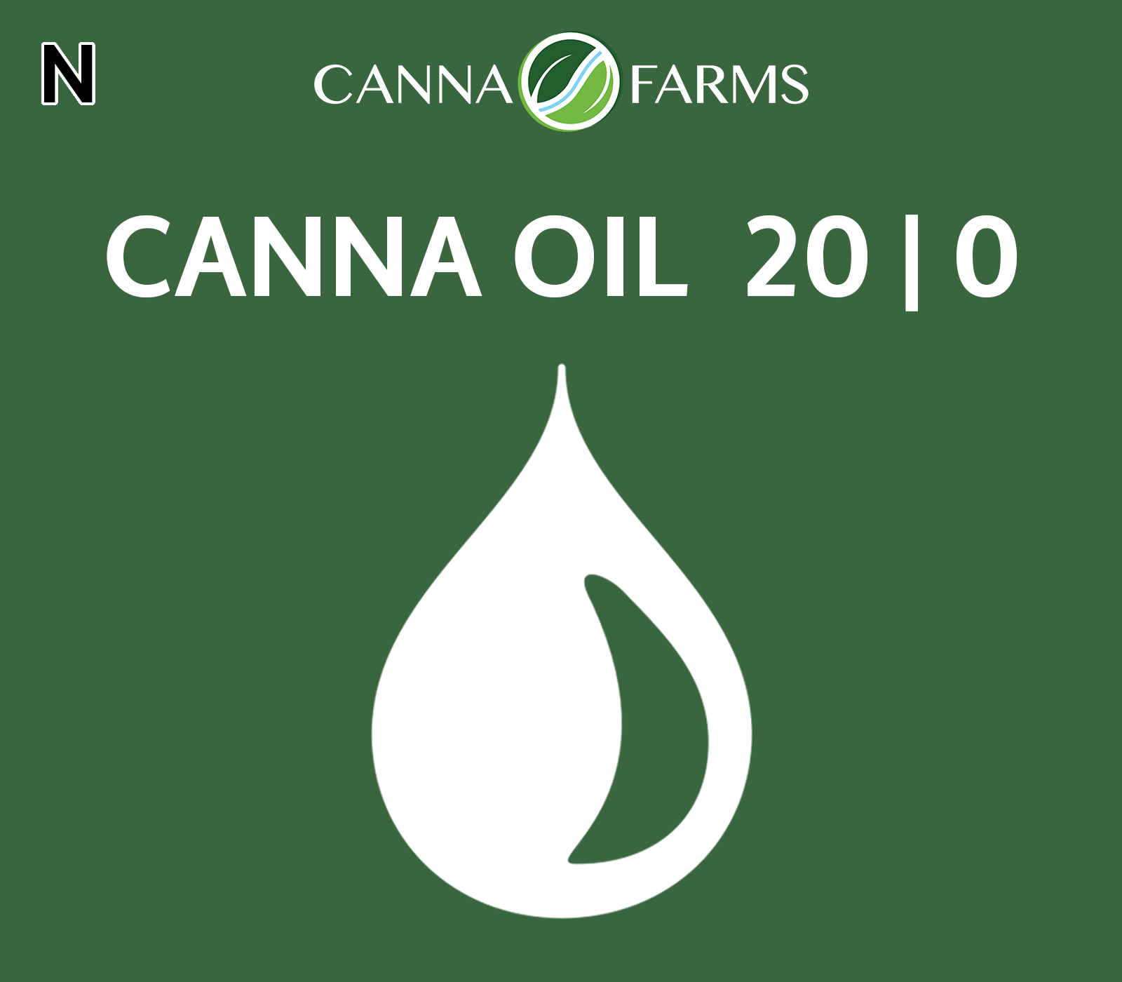 CANNA OIL  20 | 0   THC = 20.1 mg/mL |   CBD = <0.5 mg/mL 25 mL Bottles = $45 | 50 mL Bottles = $80