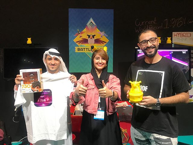 Congrats to @theahmedsamir and @edrees_almansoori 🔥🔥 We ran a competition for the fastest race in our game Battle Birds. And these two played against each other and got the same time!  And thanks to @ichiban.ae for the extra reward, the awesome Tracer figure.  #BattleBirds #indiegamedev #gamescon #abudhabi #speedrun
