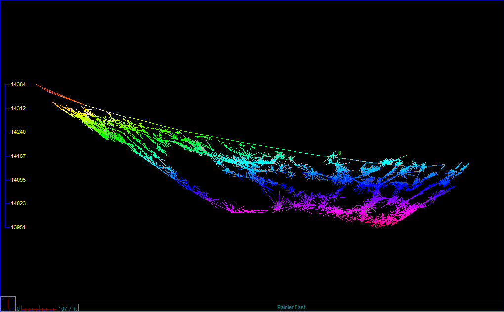 A graphic image of what was mapped during our mission