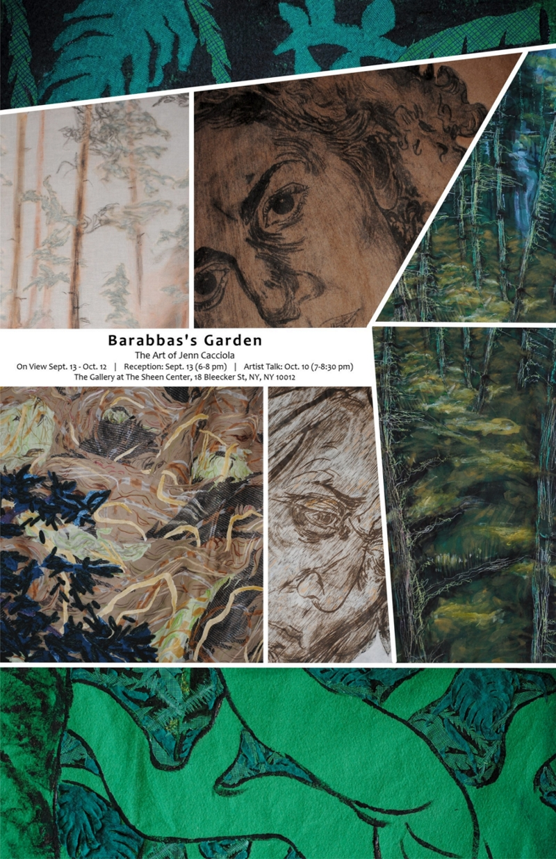Barabbas's Garden - The Gumbo Limbo tree sheds its flaky bark in order to prevent colonization by parasitic insects. The Cecropia tree is the