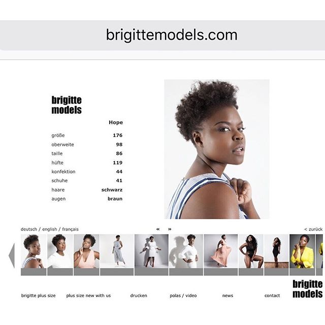 #ModelMonday - Officially represented by @brigittemodels  in Germany 🇩🇪 . Let the new adventures begin .💃🏼 Booked & Busy  #internationalmodel  #thehopeprint • • • • #curves #lovebody #germany #goldenconfidence #plussize #newadventures #loveyourself #modelmondays #melanin #naturalcurves #naturalhair #levelup #godisgod