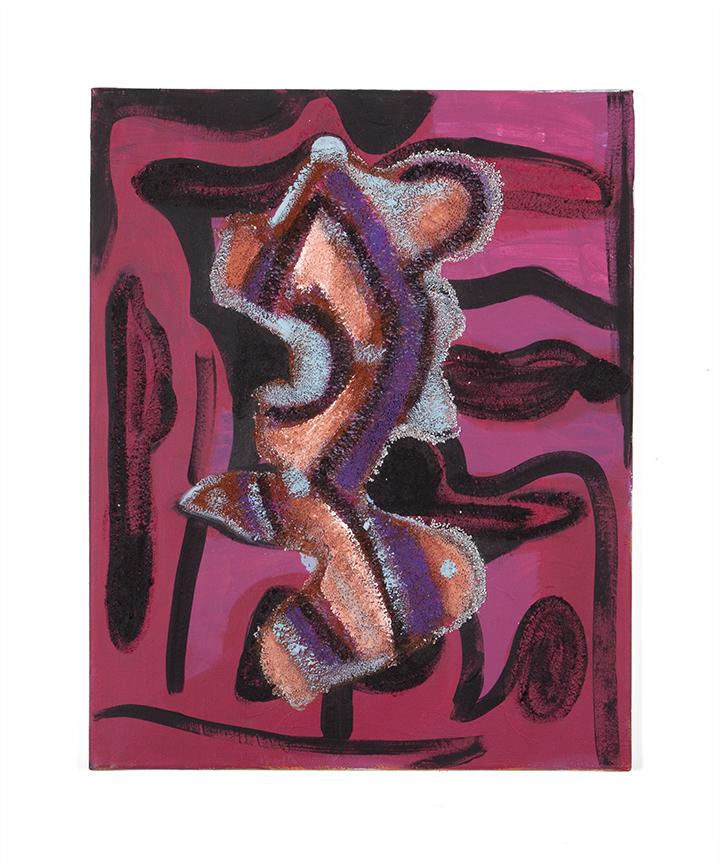 isaac15acrylic, chalk, sand on canvas, 2014,16x20.jpg