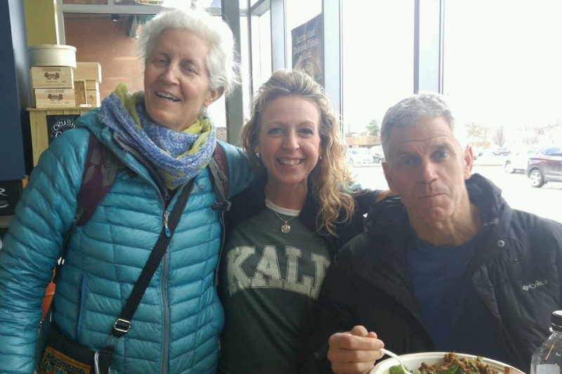 Joyce with none other than Jane & Rip Esselstyn