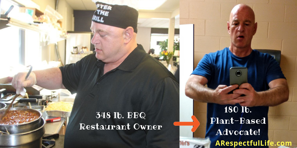 Before: BBQ Chef Jeff After: Plant-Based Chef Jeff