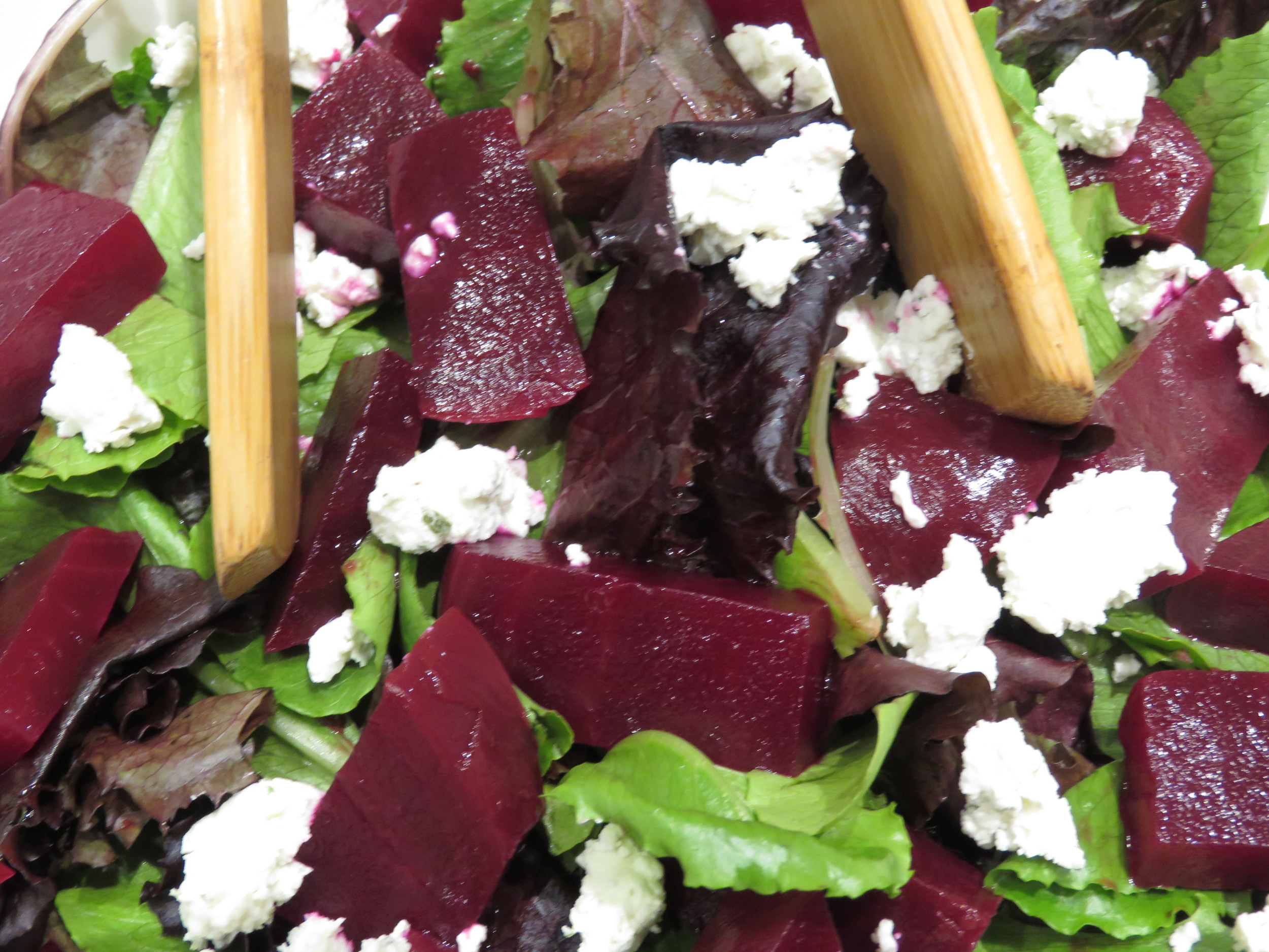 Look at all those yummy beet and goat cheese pieces!