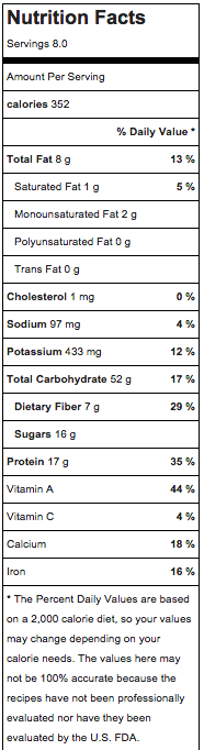 spiced carrot cake oatmeal nutrition
