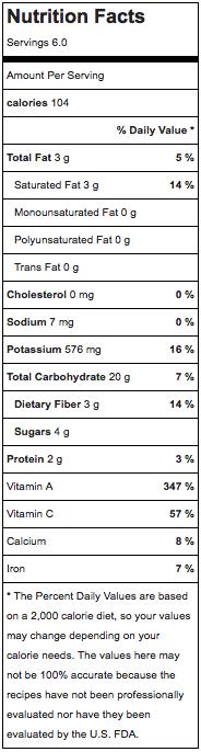 Coconut Curry Butternut Squash Nutrition