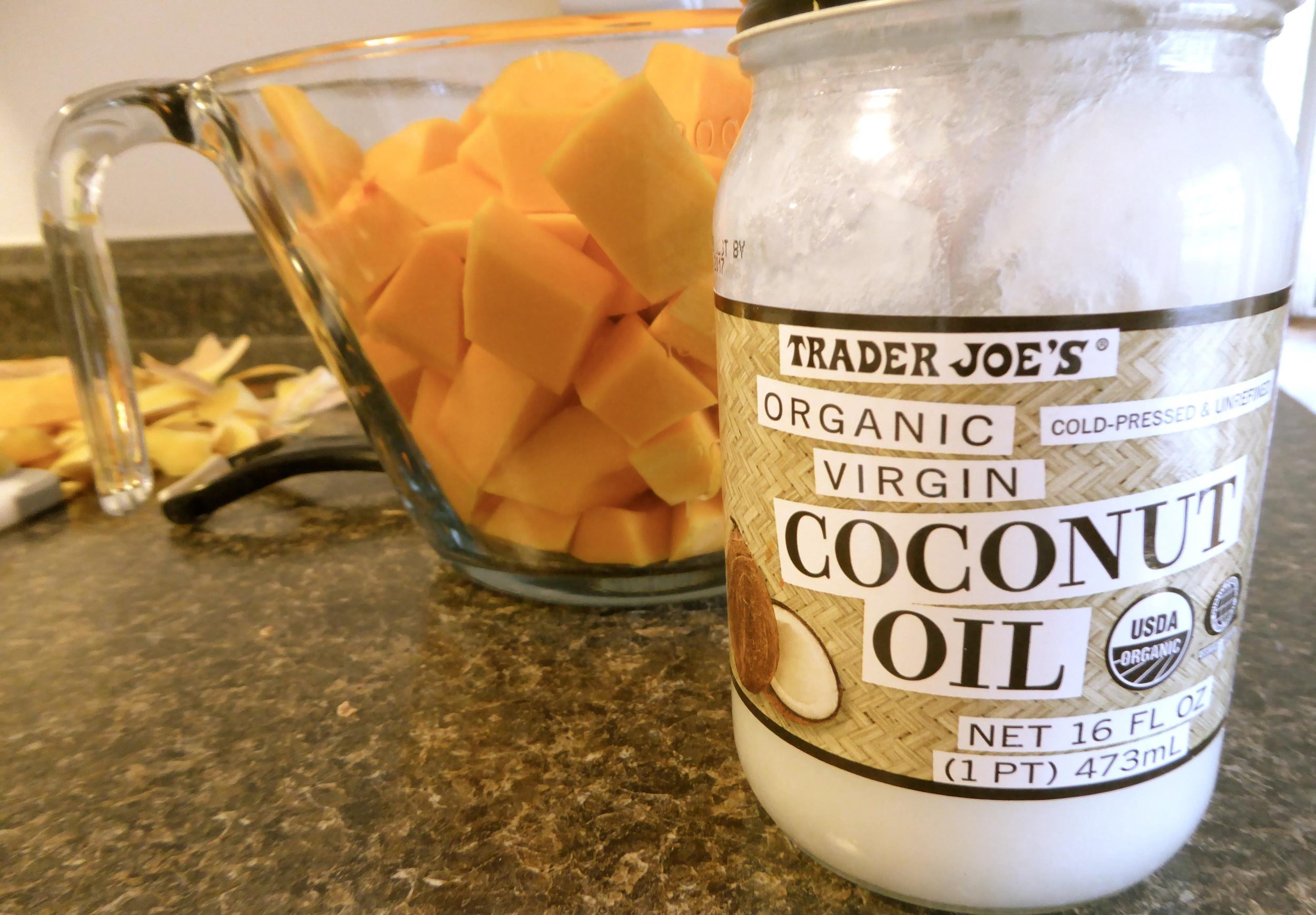 coconut oil squash