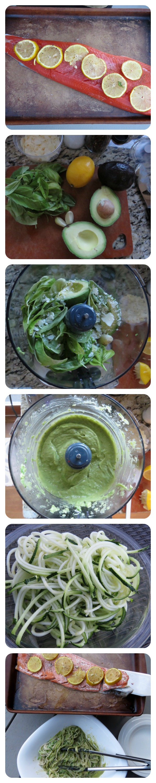 Creamy avocado pasta steps