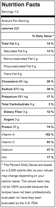 Omega Lunch Salad Nutrition