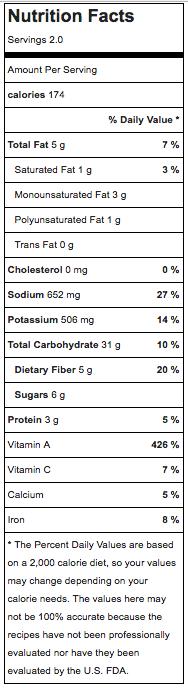 sweet potato chips nutrition