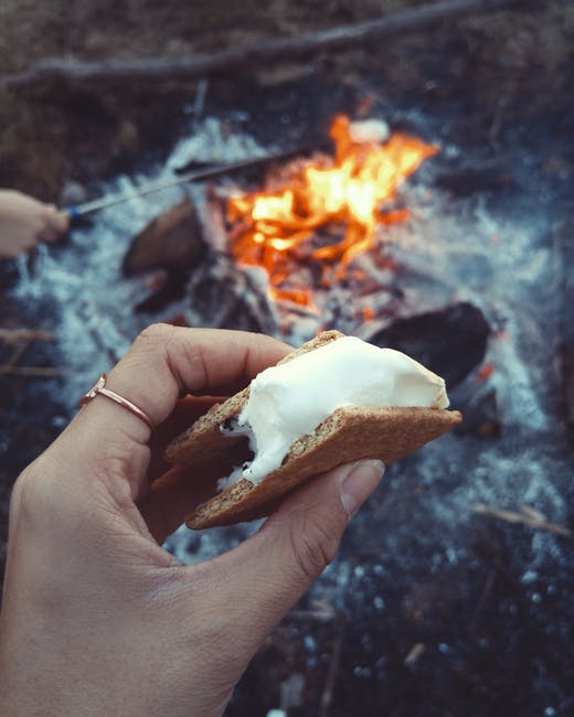 There's nothing like a s'more by the campfire! Sooo worth it!